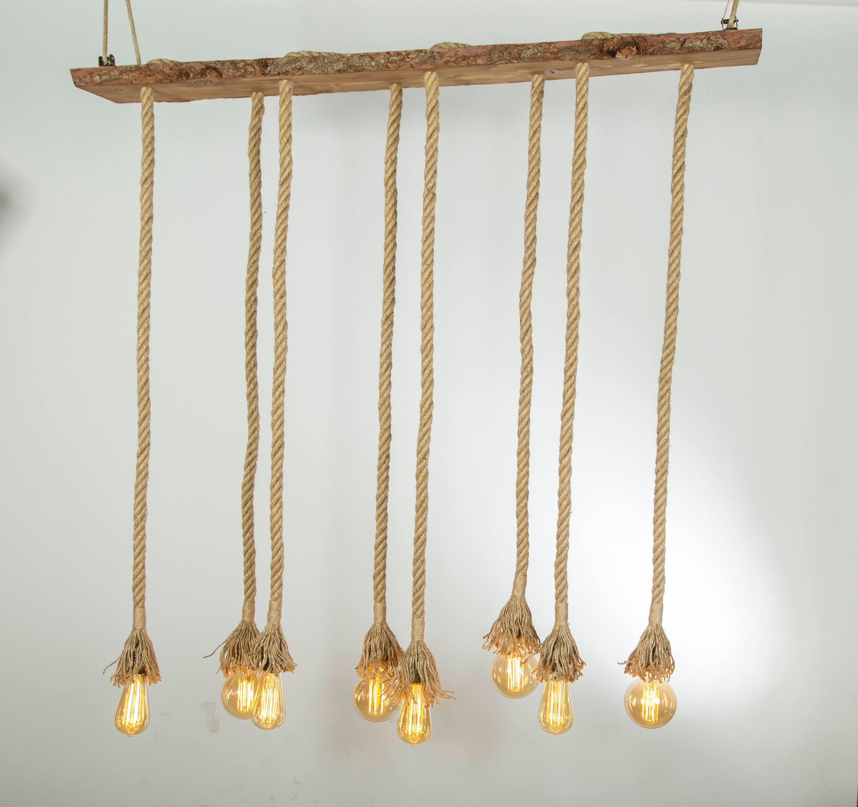 Rustikale Beleuchtung Pendelleuchte Seil Seil Licht   Etsy