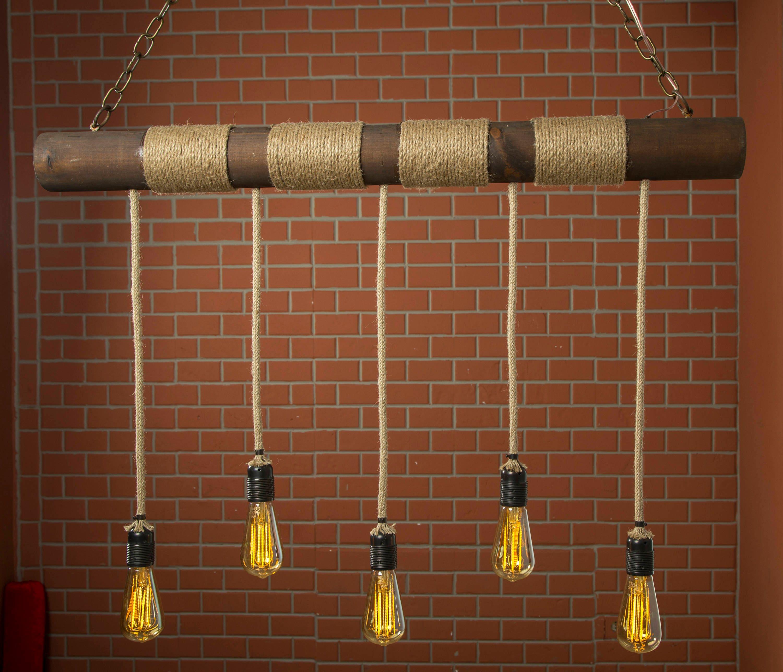 Bauernhaus-Kronleuchter rustikale Beleuchtung