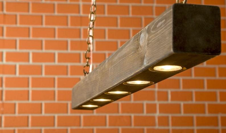 Rustic Lighting Reclaimed Wood Light Beam Light Lighting image 0