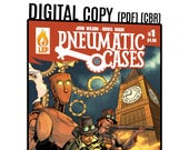 Pneumatic Cases - Issue #1 - PDF - Digital Copy - Steampunk - Victorian Mystery - Comic Book - Indie Comics - Last Ember Press