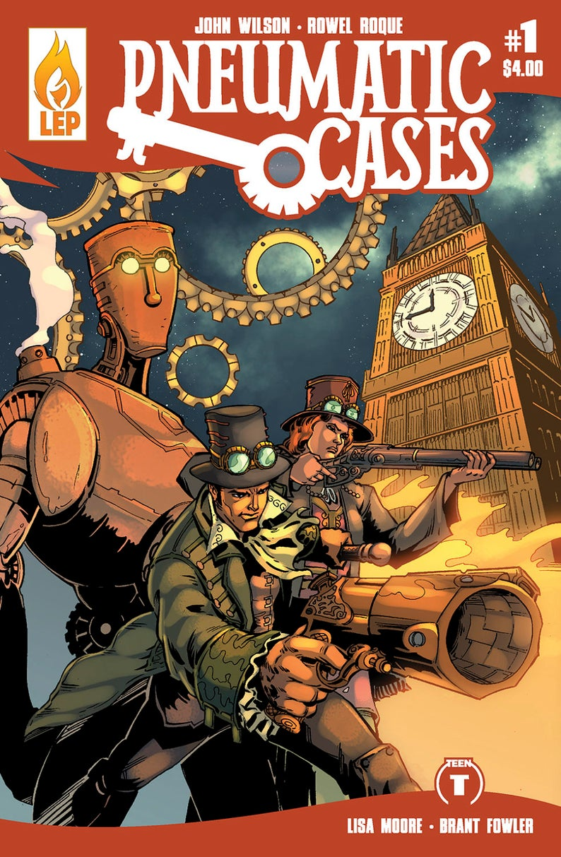 Pneumatic Cases  Issue 1  Steampunk  Victorian Mystery  image 0