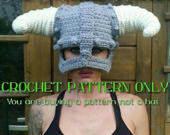 Dragonborn Helmet Crochet PATTERN please read descriptions before ordering eacd72c692
