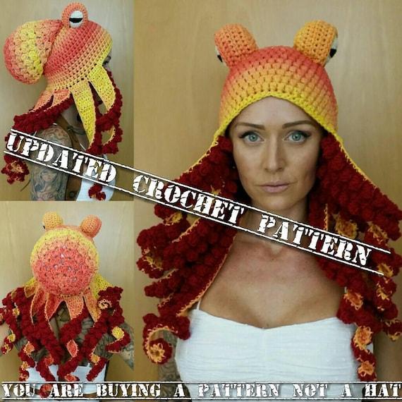 Updated Crochet Octopus Hat Aka Twisted Kraken PATTERN Pls Etsy Classy Crochet Octopus Hat Pattern