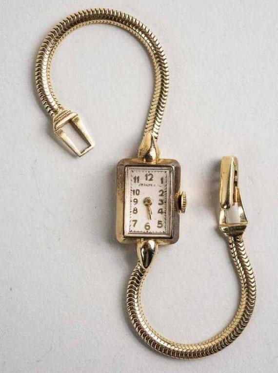 Tiffany Women's Gold Wristwatch