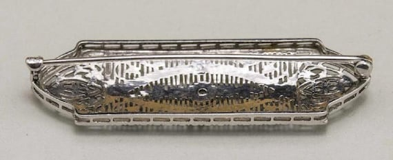 Edwardian Diamond Pin - image 2