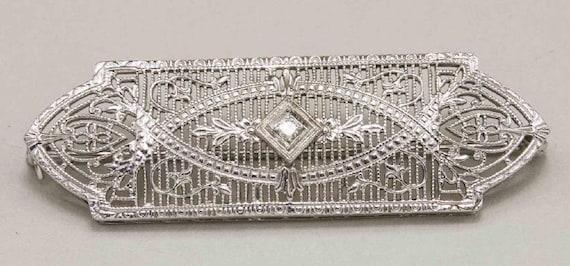 Edwardian Diamond Pin - image 1