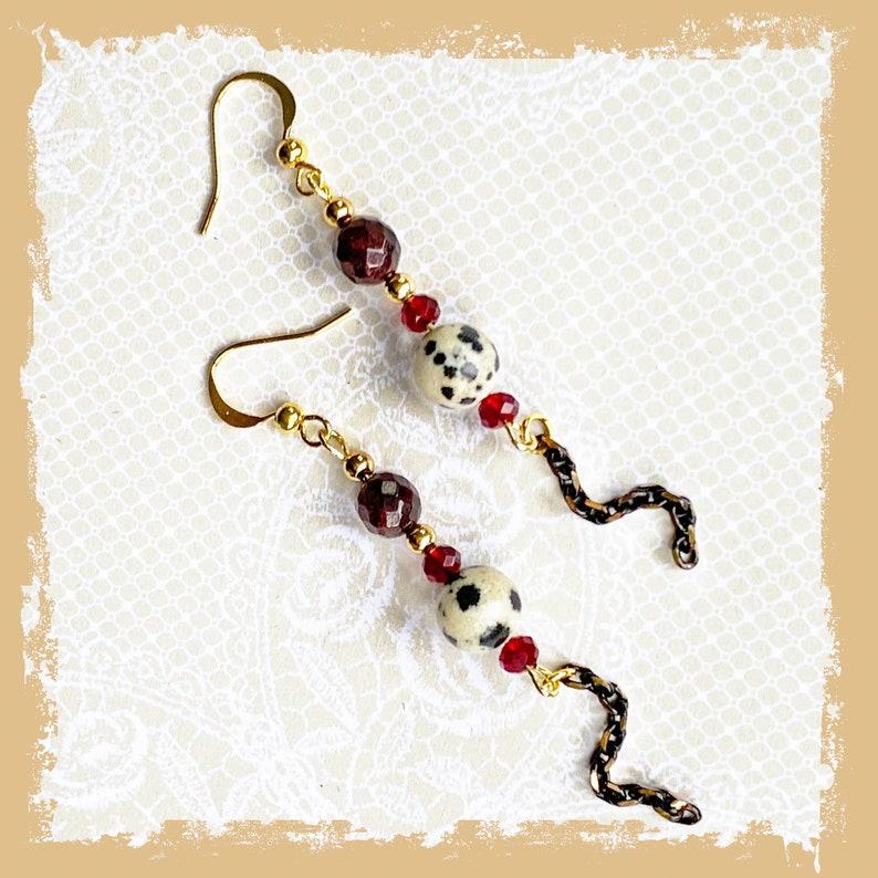 Gemstone Chain Earrings Funky Earrings Gifts for Women