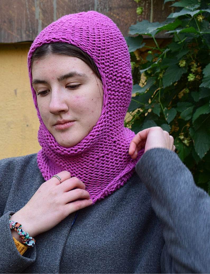 Balaclava ski mask knit wool balaclava hood women hand knit  facc5ccec