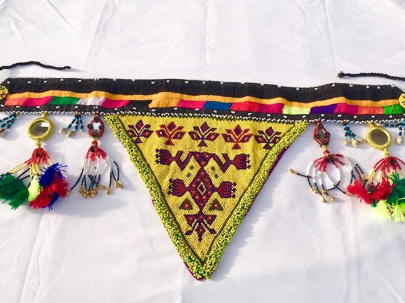 belly dancing belt multi color kuchiBanjara belt Kuchi belt triangle belt festival belt