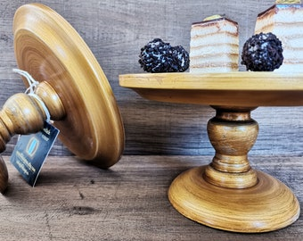 CAKE STAND  Cup-Cake-Stand La Petite d'or, 7.5 inch 19.0 cm, Solid wood