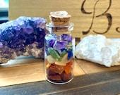 Chakra Crystal Healing Bottles * Chakras * Crystals * Rainbow * Root Chakra * Sacral Chakra * Mothers Day Gift * Heart Chakra * Third Eye *