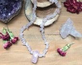 Rose Quartz Crystal Necklace * Love * Valentines * Self Love * Crystal Healing * Spiritual Gift * Pink * Gemstone * Boho * Hippie * Heart