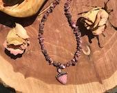 Rhodochrosite Necklace// Gemstones // Mothers Day Gift  // Healing // Gypsy // Protective // Chakra // Beaded // Boho // Bohemian // Hippie