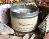 Meditation Candle * Ritual Candle * Valentines * Aromatherapy * Apothecary * Witch * Gypsy * Bohemian * Intention * Soy Candle * Crystals