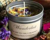 Wanderlust Candle * Ritual * Spell * Travel * Gypsy * Christmas * Flower candle * Meditation Candle* Boho * Free Spirit * Birthday Gift*