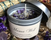 Mama Wolf Candle * Baby candle * Kids * Meditation * Ritual * Gypsy * Bohemian * Goddess * Mother * Crystal Candle * Witch * Magic * Mom