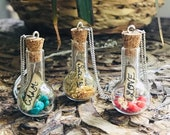 Magical Charm Bottle Necklace * Manifestation * Crystal Healing * Magic * Charm Bottle * Terrarium * Gemstone Necklace * Spell * Magic Spell