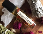 Dirty Hippie Essential Oil Perfume * patchouli oil * crystals * botanical * gypsy * hippie * Valentines * Boho * Apothecary * Aromatherapy