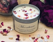 Moonbeam Essential Oil Candle * New Moon * Full Moon * Valentines * Crystal Candle * Moon Candle * Moon Child * Boho * Ritual Candle *