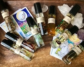 Tarot Card Essential Oil Perfumes * Aromatherapy * Tarot * Archetypes * Valentines Day Gift * Crystal Healing * Tarot Cards * Roller Ball