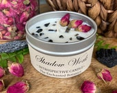 Shadow Work Candle * Soy Candle * Crystal Candle * Flower Candle * Vegan Candle * Spiritual Candle * Spirituality * Shadow * Christmas *
