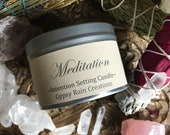 Meditation Candle * Ritual Candle * Birthday * Boho * Meditate * Apothecary * Witch * Gypsy * Bohemian * Christmas * Soy Candle * Crystals