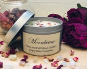 Moonbeam Essential Oil Candle * New Moon * Full Moon * Birthday * Crystal Candle * Moon Candle * Moon Child * Christmas * Ritual Candle *
