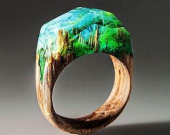 Wood Resin Ring for Women