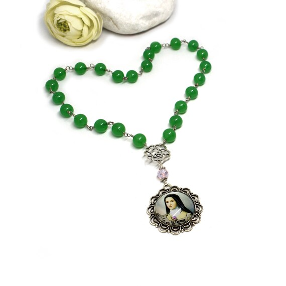 8 inch Round Double Loop Bangle Bracelet with a St Gerard Majella charm.
