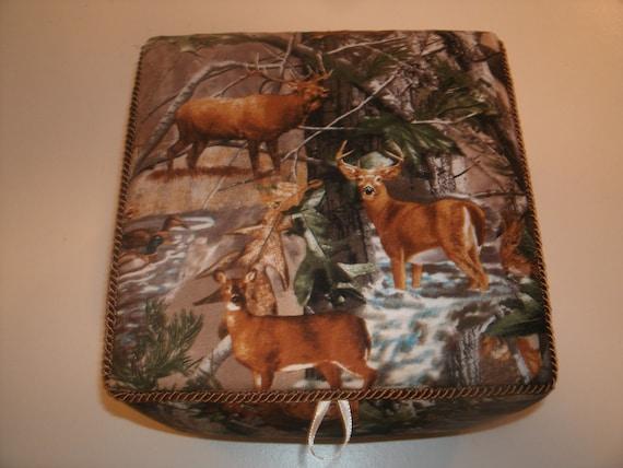 Deer Fabric Box Handmade Large Lidded Storage Box Etsy