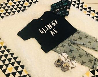 Hipster Toddler Shirt- Clingy AF