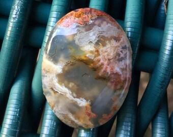 Natural Scenic Inclusion Agate Cabochon Stone