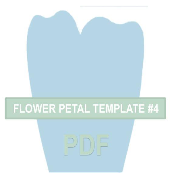 Flower Petal Template 4 PDF   Etsy