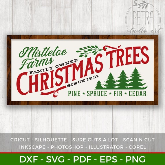 image 0 - Mistletoe Farms Christmas Trees Svg Cut File For Rustic Etsy