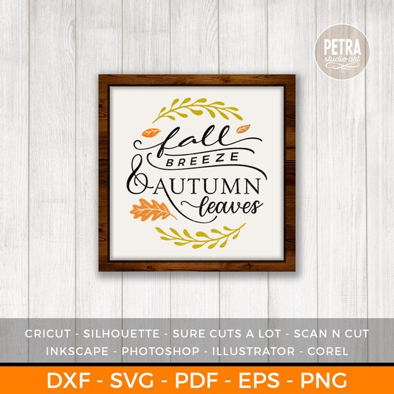 Download Autumn Breeze – Dxf/Svg/Png/Pdf Cut & Print Files DXF