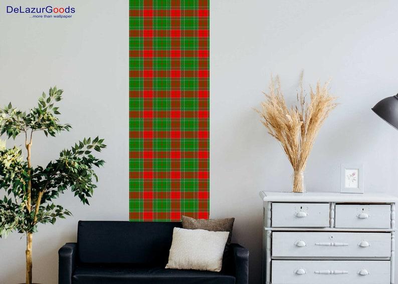 DeLazurGoods Removable Christmas Spirit Wallpaper Woven Wallpaper Peel and Stick Wall Art Roll Wallpaper