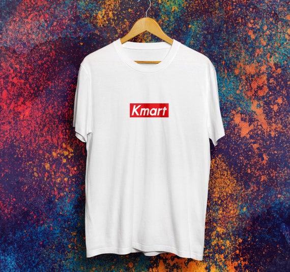 Kmart Box Logo T Shirt Brands Bootleg Shirt Supreme Kmart Etsy
