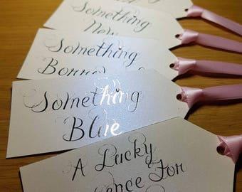 Something old, something new something borrowed, something blue and lucky sixpence