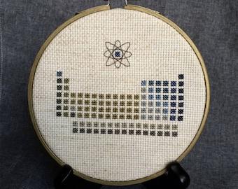 PDF Pattern   Periodic Table (Atom) Cross Stitch   Atom Art   Teacher Gift    Nerdy Gift   Chemistry Cross Stitch   Pretty