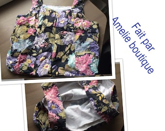 White double flower tote bag