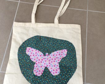 Very colorful recycled tote bag