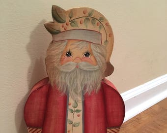 The Cutest Hand-painted Wooden Old-World Santa