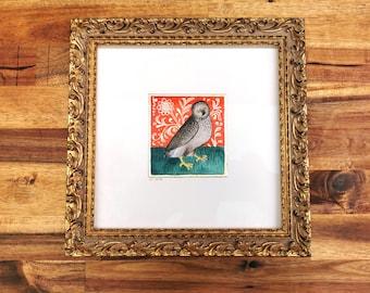 The Owl, framed original artwork