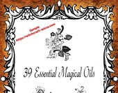39 Essential Magical Oils - PDF Printable Book of Shadows Pages, Book of Shadows instant download