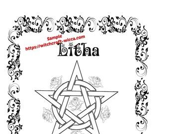 Litha Summer Solstice-BOS 10 Pages Litha pagan holiday | Etsy