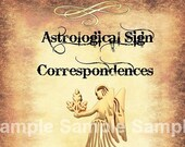 Virgo Astrological Sign Correspondences - 6 pages set
