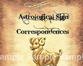 Aries Astrological Sign Correspondences - 6 pages set