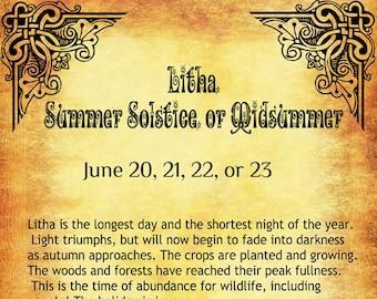 Litha celebration BOS 8 Pages Litha- Litha recipes, Litha Summer Solstice, Litha Ritual Ideas