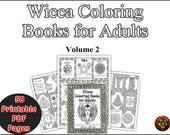 Book of Shadows instant download Wicca Coloring Book, Wiccan Books Printable Vol 2 Gods