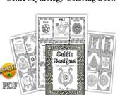 70 Celtic Book of Shadow Coloring Pages Printable PDF, Celtic Knot, Mandala, Irish design, Celtic Cross Grimoire printable
